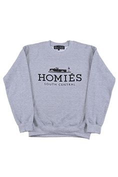 Heather Grey Homies Sweatshirt with Black Ink