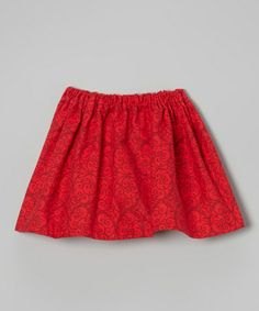 Another great find on #zulily! Red Swirl Skirt - Infant, Toddler & Girls #zulilyfinds