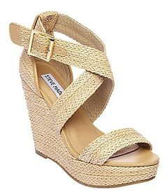Steve Madden HAYWIRE NATURAL womens sandal high wedge Design works No.1879  2013 Fashion High Heels 