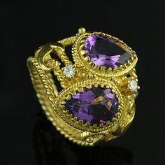 Vintage Diamond and Amethyst ring