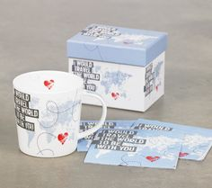 Travel The World Mug & Napkins from PPD