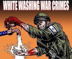 See who is washing away Israel's war crimes!