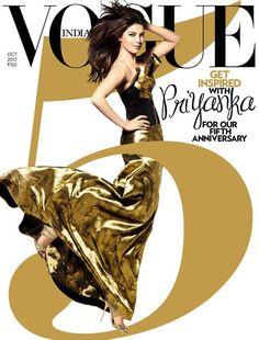 Priyanka Chopra Vogue India    5th Anniversary Cover    Oct 2012