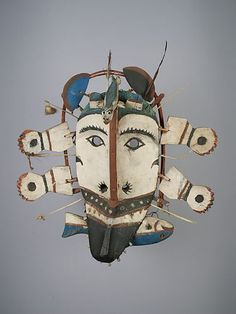 Yup'ik Mask, UBC Museum of Anthropology, Walter C. Koerner Collection Measurements Overall: 43 cm x 41 cm x 13.8 cm Object Number A2.579