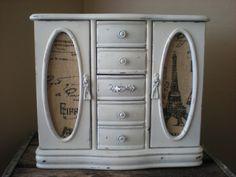 Large White Jewelry Box Shabby Heirloom White by ABackyardCreation, $78.00