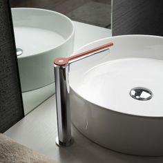 Robinet mitigeur de lavabo vasque  poser avec manette de coloris