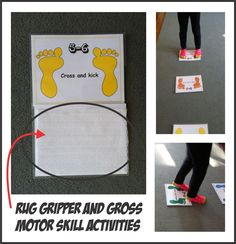 Rug Gripper and Gross Motor Skills - Pinned by @PediaStaff – Please Visit  ht.ly/63sNt for all our pediatric therapy pins
