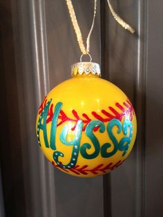 Sport Ornament by SarahKKreations on Etsy, $12.00