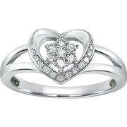 1/5 Carat T.W. Diamond Heart Ring in Sterling Silver  $99.00