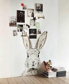 STYLE, SPACE & STUFF lovely cute bunny wallpaper/magnet board