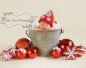 Christmas hat - ornament hat, newborn baby, photography props