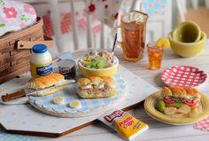 Miniature Making Tuna Salad Sandwich Set by CuteinMiniature