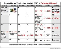 Interested in seeing what else is going on with Dansville ArtWorks this month? Check out this updated calendar for a full listing of events and hours.