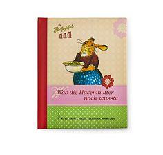 """Buch """"Was die Hasenmutter noch wusste"""" mit Rezepten und Haushaltstipps, liebevoll illustriert, Esslinger Verlag – jetzt bei Servus am Marktplatz kaufen. Cover, Books, Movie Posters, Bunny, Knowledge, Libros, Book, Film Poster, Book Illustrations"""