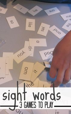 Three sight-word games for kiddos.
