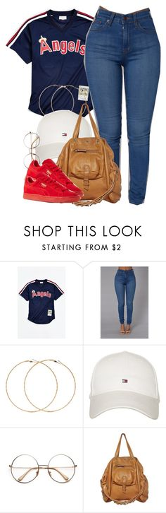 """""""Angels."""" by cheerstostyle ❤ liked on Polyvore featuring Mitchell & Ness, Forever 21, Tommy Hilfiger, Jérôme Dreyfuss and Puma"""