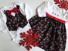 Christmas Twins Onesie, Sibling Christmas Outfits, Matching Sibling Outfits, Brother Sister Outfit, Big Sister Little Brother by SweetTootsy on Etsy