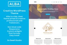 Check out Alba Creative WordPress Theme by Swell Studio Themes on Creative Market Easy Install, Wordpress Theme, Coding, Studio, Creative, Check, Studios, Programming