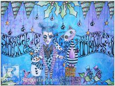 Winter Wonderland Journal Page by Miranda van den Bosch | www.rangerink.com