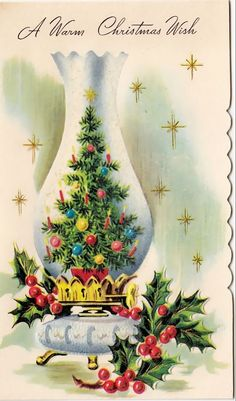 A Warm Christmas Wish Vintage Christmas Images, Retro Christmas, Vintage Holiday, Christmas Pictures, Christmas Art, Antique Christmas, Christmas Ideas, Christmas Greeting Card Messages, Vintage Greeting Cards