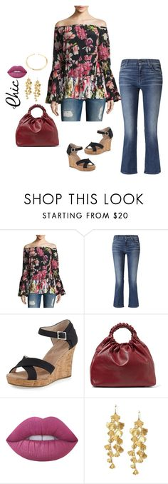 """Autumn Style"" by dalba77 ❤ liked on Polyvore featuring Rococo Sand, 7 For All Mankind, TOMS, The Row, Lime Crime, Tory Burch, Sole Society, floral, offtheshoulder and autumnstyle"
