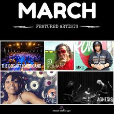 Our March featured artists are now up on Music Talks. Get over and check out more awesome talent!