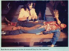 Rob Bottin at work. Best Werewolf Movies, Horror Movies, Who Goes There, The Howling, Special Effects, Face Art, Thriller, Behind The Scenes, Backstage