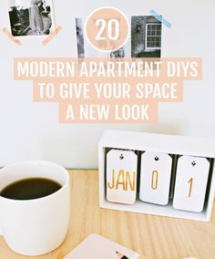 20 Modern Apartment DIYs to Give Your Space a New Look, small space decor ideas…