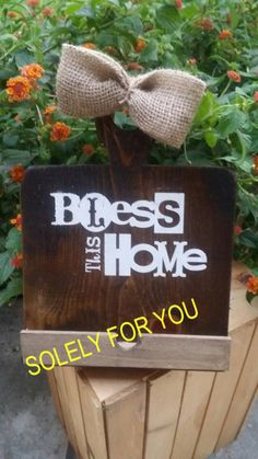 Bless this house Wooden Tablet holder by shopsolelyforyou on Etsy