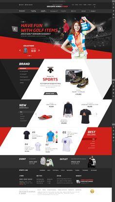 DCafeIn Website - Descente Korea E-Shop