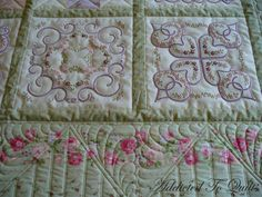 machine embroidered quilts | Visit Sarah's Blog to see what other quilters have to show this Friday ...
