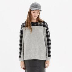 Madewell - Buffalo Plaid Sweatshirt