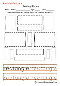 Drawing Rectangles Worksheet | Shape, Have fun and Colors