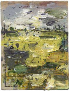 John Walker, Seal Point Series N 18, 2006. Oil on bingo card, 7 1/4 x 5 1/2″