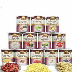 602 Total Servings of Gluten Free Fruit & Vegetable Pack Food Storage