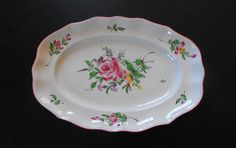 Antique French Luneville Platter c19001930 by Vintagefrenchlinens, $95.00