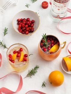 Winter Spiced Moscow Mule - a fun and festive holiday spin on a Moscow Mule - perfect for New Years Eve! This healthier version uses ginger kombucha instead of ginger beer.