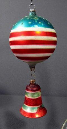 US Flag Patriotic Bell German Christmas Tree Ornament Antique Vtg Germany   eBay