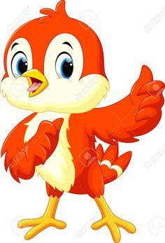 Cute bird cartoon thumb up Cute Bunny Cartoon, Cartoon Monkey, Cartoon Birds, Cartoon Fish, Mickey Mouse Cartoon, Art Drawings For Kids, Drawing For Kids, Cartoon Drawings, Cute Drawings