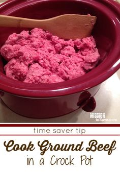 Yes, I cook ground beef in my crock pot. Check out tips for how to easily make freezer friendly, recipe ready ground beef. Perfect for busy weeknight meals and recipe prep.