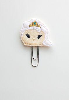 Tsum Tsum Elsa Felt Paperclip | Bookmark | Clip | Planner Accessories | Feltie | Planner Clip | Paper Clip | Movie Paperclip | Frozen