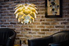 VITA Copenhagen 02073 Silvia Hanging Silvia Wide Single Light Pendant Gold with Bronze Canopy Indoor Lighting Pendants Luminaire Design, Lamp Design, Tons Clairs, Copenhagen Design, Shops, Light Shades, Modern Classic, Pendant Lamp, Contemporary Style