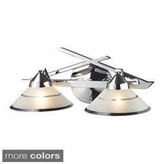 westmore lighting beryl 3 light chrome cone vanity light bathroom