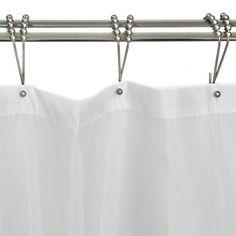 12pcs Shower Bath Bathroom Curtain Rings Clip Easy Glide Hooks Chrome Plated Clear-Cut Texture Bath Hardware Sets Bathroom Hardware