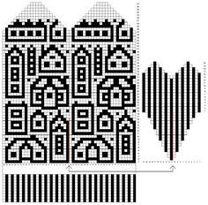 Knitted Mittens Pattern, Knit Mittens, Crochet Home, Gloves, Tapestry, Knitting, Fair Isles, Socks, Breien