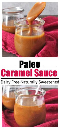 Caramel Sauce Paleo Homemade Caramel Sauce thick smooth sweet and so delicious Dairy free naturally sweetened and gluten freePaleo Homemade Caramel Sauce thick smooth swe. Paleo Dessert, Healthy Sweets, Gluten Free Desserts, Dairy Free Recipes, Paleo Recipes, Real Food Recipes, Cooking Recipes, Dairy Free Dressing Recipes, Heathy Treats