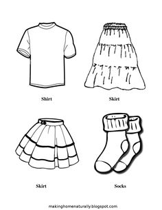 free, printable picture clothes  labels~ Making Home Naturally ~: They Put Their Own Laundry Away! Clothing Labels for Drawers