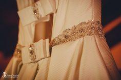 vestido de novia, vestido princesa, lazos y swarovski