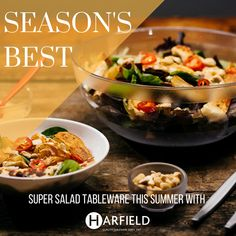 Season's Best  With #Superfoods come #Super Bowls this summer! Serve up everything from #Chicken to #Halloumi, #Pomegranate to #Tuna Niçoise with Harfield Tableware salad and serving bowls and accessories. #Summer never tasted this good. #seasonsbest #salad #halloumi #chicken #saladbowl #pastabowl #hospitality #streetfood #pomegranate #superfood Visit: www.harfieldtableware.co.uk