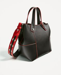 Image 3 of MINI TOTE WITH CONTRASTING HANDLE from Zara Mini, Contrast, Handle, Collection, Women, Image, Fashion, Wings, Handbags